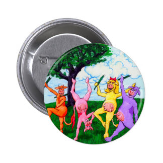 Wisconsin Cows Who Frolic 2 Inch Round Button