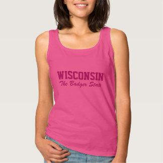 WISCONSIN custom text clothing Tank Top
