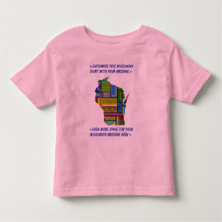 Wisconsin Customizable Colorful Election T-Shirt