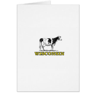 Wisconsin dairy cow card