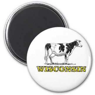 Wisconsin dairy cow magnet