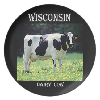 Wisconsin Dairy Cow Party Plates