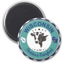 Wisconsin Dairyland Badge Magnet
