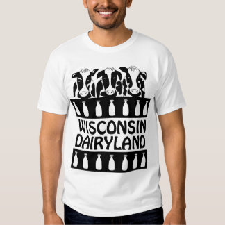 Wisconsin Dairyland Cow Funny Farm T-shirt