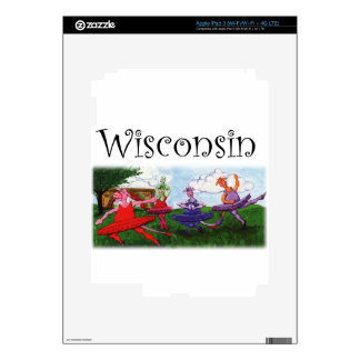 Wisconsin Dancing Cows Skins For iPad 3