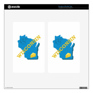 Wisconsin Decals For Kindle Fire