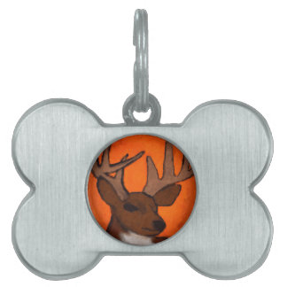 Wisconsin deer pet name tag