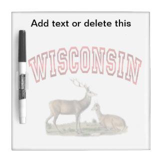 Wisconsin deer scene Dry Erase Board