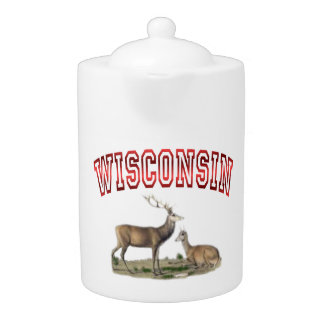 Wisconsin deer scene Teapot (2) sizes
