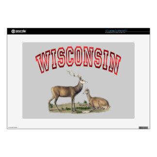 "Wisconsin deer scene Zazzle Skin Skins For 15"" Laptops"