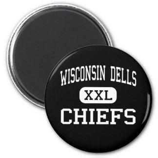 Wisconsin Dells - Chiefs - High - Wisconsin Dells Refrigerator Magnet