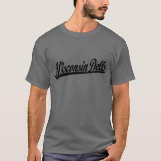Wisconsin Dells script logo in black T-Shirt