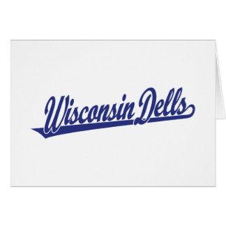 Wisconsin Dells script logo in blue Card