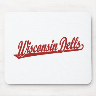 Wisconsin Dells script logo in red Mouse Pad