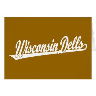 Wisconsin Dells script logo in white Card
