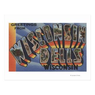 Wisconsin Dells, Wisconsin - Large Letter Scenes Postcard