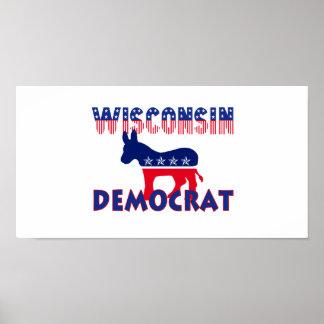 Wisconsin Demócrata Póster