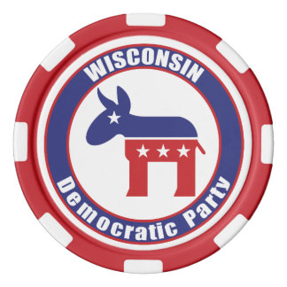 Wisconsin Democratic Party Poker Chip Set