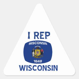 Wisconsin  Design Triangle Sticker