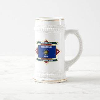 Wisconsin Diamond Beer Stein