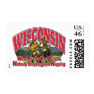 Wisconsin Dirt Bike Postage Stamp