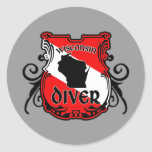 Wisconsin Diver Round Sticker