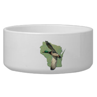 Wisconsin duck Pet Bowl (2) sizes