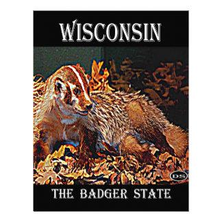 Wisconsin el estado del tejón membretes personalizados