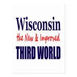 Wisconsin el TERCER MUNDO nuevo y mejorado Tarjetas Postales
