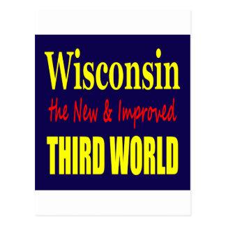 Wisconsin el TERCER MUNDO nuevo y mejorado Tarjeta Postal