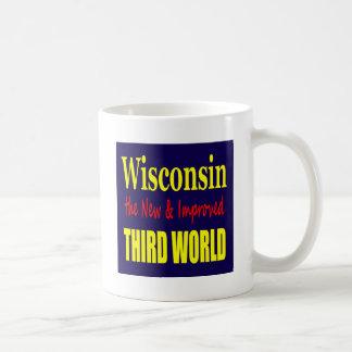 Wisconsin el TERCER MUNDO nuevo y mejorado Taza De Café