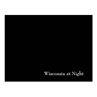 Wisconsin en la noche tarjeta postal