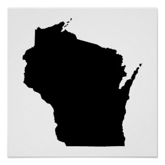 Wisconsin en negro poster