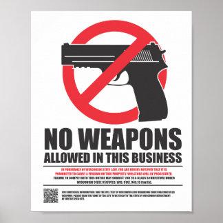 Wisconsin encubrió lleva la muestra - negocio posters