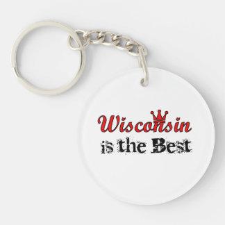 Wisconsin es el mejor llavero redondo acrílico a una cara