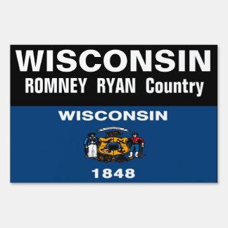Wisconsin es muestra de la yarda del país de Romne