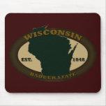 Wisconsin Est. 1848 Tapetes De Ratones