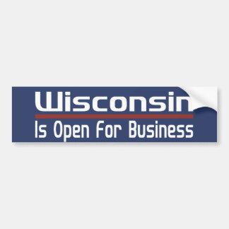 Wisconsin está abierto para el negocio pegatina para auto