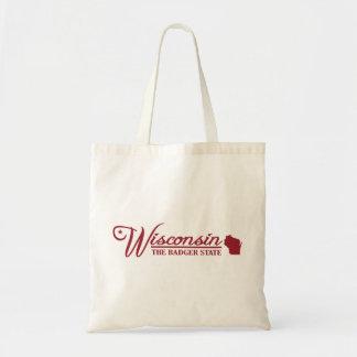 Wisconsin (estado el mío) bolsa tela barata