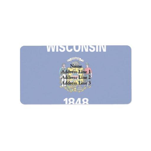 Wisconsin, Estados Unidos Etiquetas De Dirección