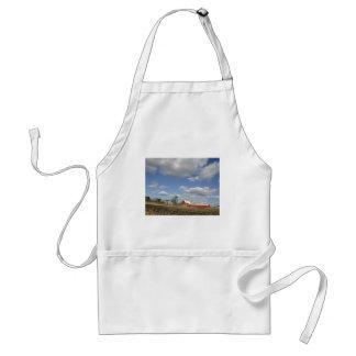 Wisconsin farm on sunny day apron