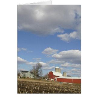 Wisconsin farm on sunny day card