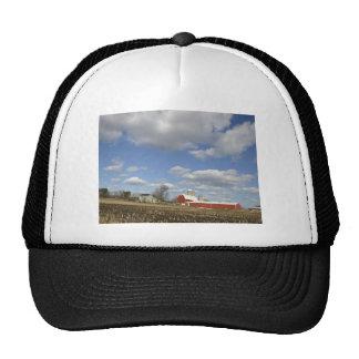 Wisconsin farm on sunny day mesh hat