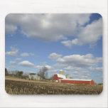 Wisconsin farm on sunny day mouse pads