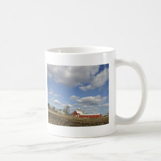 Wisconsin farm on sunny day classic white coffee mug