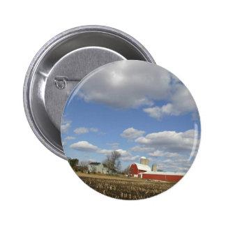 Wisconsin farm on sunny day pin