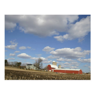 Wisconsin farm on sunny day post cards