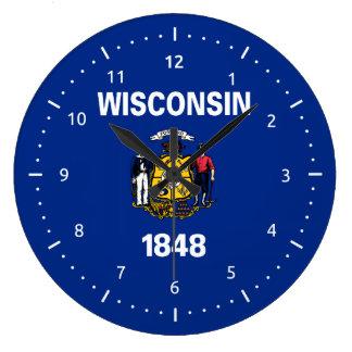 Wisconsin flag, American state flag Clocks