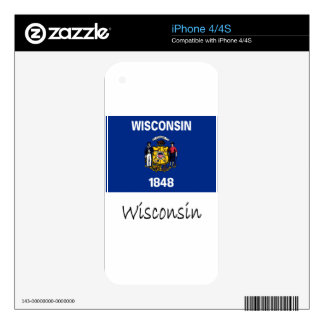 Wisconsin Flag And Name Skins For The iPhone 4S