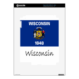Wisconsin Flag And Name Skin For The iPad 2